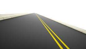 Camino rendido en blanco ilustración del vector