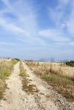 Camino rocoso rural en la isla de Koufonissi Fotografía de archivo
