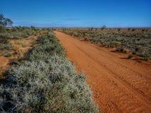 Camino rojo del interior Nuevo Gales del Sur australia Foto de archivo libre de regalías