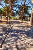 Camino romano antiguo Foto de archivo libre de regalías