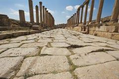 Camino romano en Jerash, Jordania Fotos de archivo