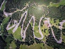 Camino Rumania de Transalpina Imagen de archivo
