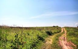 Camino rural de envejecimiento foto de archivo libre de regalías