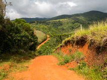 Camino rural de la suciedad Fotografía de archivo