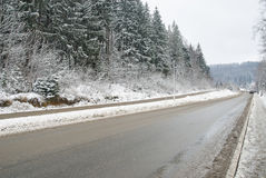 Camino rural del invierno Imagen de archivo libre de regalías