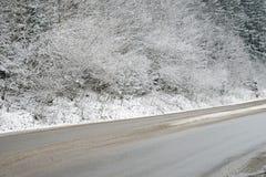 Camino rural del invierno Fotografía de archivo