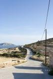 Camino rural en la isla de Koufonissi Foto de archivo libre de regalías