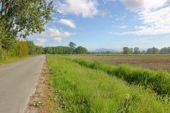 Camino rural en Richmond, Canadá Imágenes de archivo libres de regalías