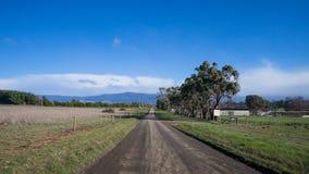 Camino rural en Tasmania Imágenes de archivo libres de regalías
