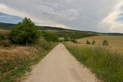 Camino Santiago at the height of forgiveness. Spain stock photos