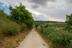 Camino Santiago at the height of forgiveness. Spain royalty free stock photo