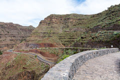 Camino serpentino en el valle del rey del gran de Valle Foto de archivo