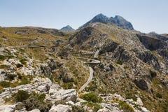 Camino serpentino a Sa Calobra, Mallorca Imagenes de archivo