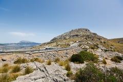 Camino serpentino a Sa Calobra, Mallorca Fotografía de archivo libre de regalías