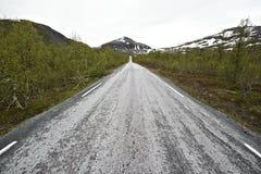 Camino sin fin Laponia Fotos de archivo