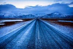 Camino solo azul helado Foto de archivo