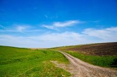 Camino solo del campo Imagenes de archivo