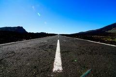 Camino solo largo Fotografía de archivo