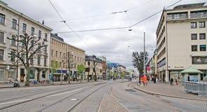 Camino sueco de la ciudad Fotografía de archivo