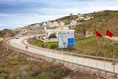 Camino Tanger Med 2 nuevos terminales del puerto bajo construcción Fotos de archivo libres de regalías