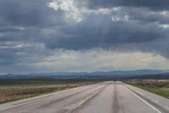 Camino tempestuoso Imagen de archivo libre de regalías