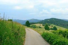 Camino a través de la montaña Imagen de archivo libre de regalías