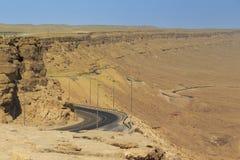 Camino a través del cráter de Ramón Foto de archivo