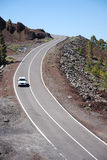 Camino a través del landscap volcánico Imagen de archivo libre de regalías