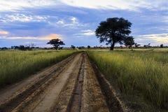 Camino a través a Polentswa Foto de archivo
