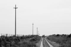 Camino un Epecuén Photo libre de droits