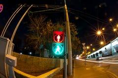 Camino urbano de la noche de la ciudad Foto de archivo libre de regalías