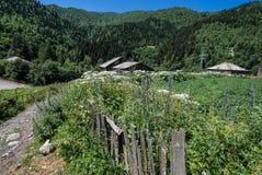 Camino a Ushguli Fotografía de archivo