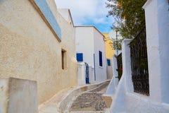 Camino vacío en Grecia Imagenes de archivo