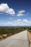 Camino vacío, Portugal Imagen de archivo libre de regalías