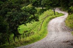 Camino ventoso de Costa Rica Fotos de archivo