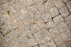 Camino viejo de la piedra de pavimentación Fotografía de archivo