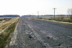 Camino viejo del asfalto Imagen de archivo libre de regalías