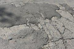 Camino viejo del asfalto de tierra del camino Imagen de archivo libre de regalías