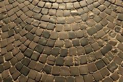 Camino viejo del pavimento, textura La textura del pavimento de piedra teja el cobb imagen de archivo libre de regalías