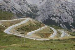 Camino Xuebaoding del Aba Imagen de archivo