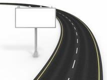 Camino y cartelera ilustración del vector