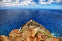 Camino y faro de la costa de Hawaii fotografía de archivo libre de regalías