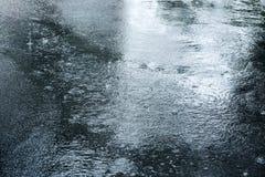 Camino y lluvia imagen de archivo libre de regalías