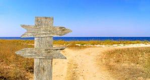 Camino y mar Foto de archivo