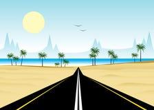 Camino y playa