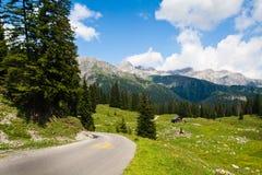 Camino y prados verdes Fotos de archivo libres de regalías