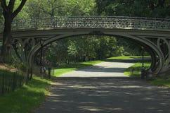 Camino y puente de Central Park Imagen de archivo