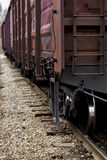 Camino y tren ferroviarios p3 Fotos de archivo