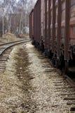 Camino y tren ferroviarios p5 Fotos de archivo