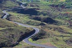 Caminos 11 de Lesotho Imagenes de archivo